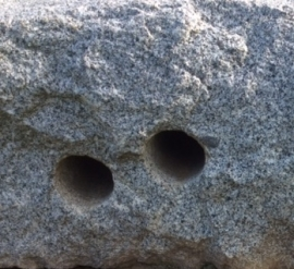 This is a sample of the rock we can drill (130mm hole for a 110mm conduit)
