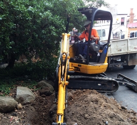 Trenching in Windor/Prahran outside Swinburne University and Tafe