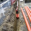 Pipe ready to go in trench